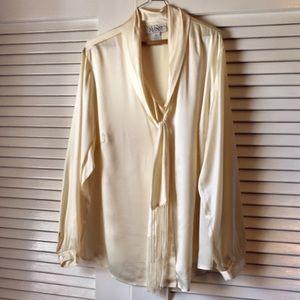 Alfani Cream Silk Blouse